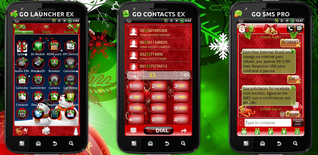 Android Themes: *COMPLETE* Full Christmas GO Themes