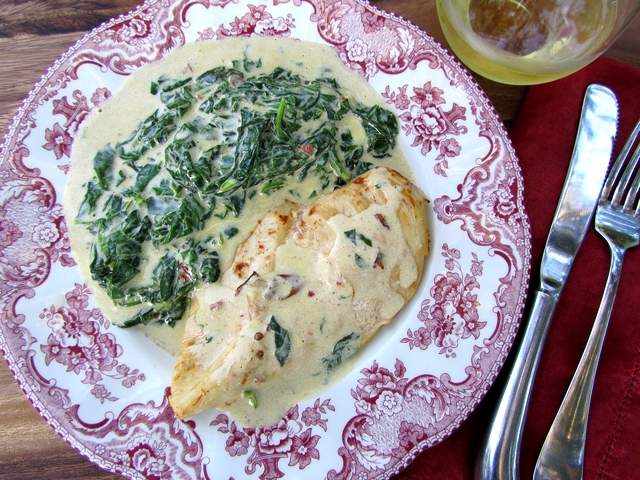 ... not chicken to have chipotle chicken with creamed spinach on my plate