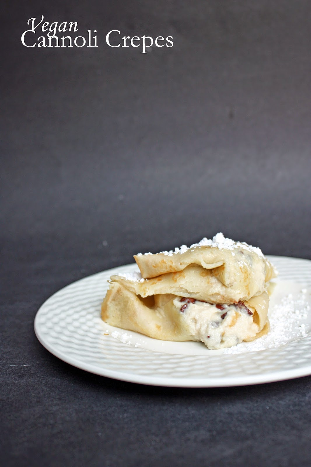Vegan cannoli crepes