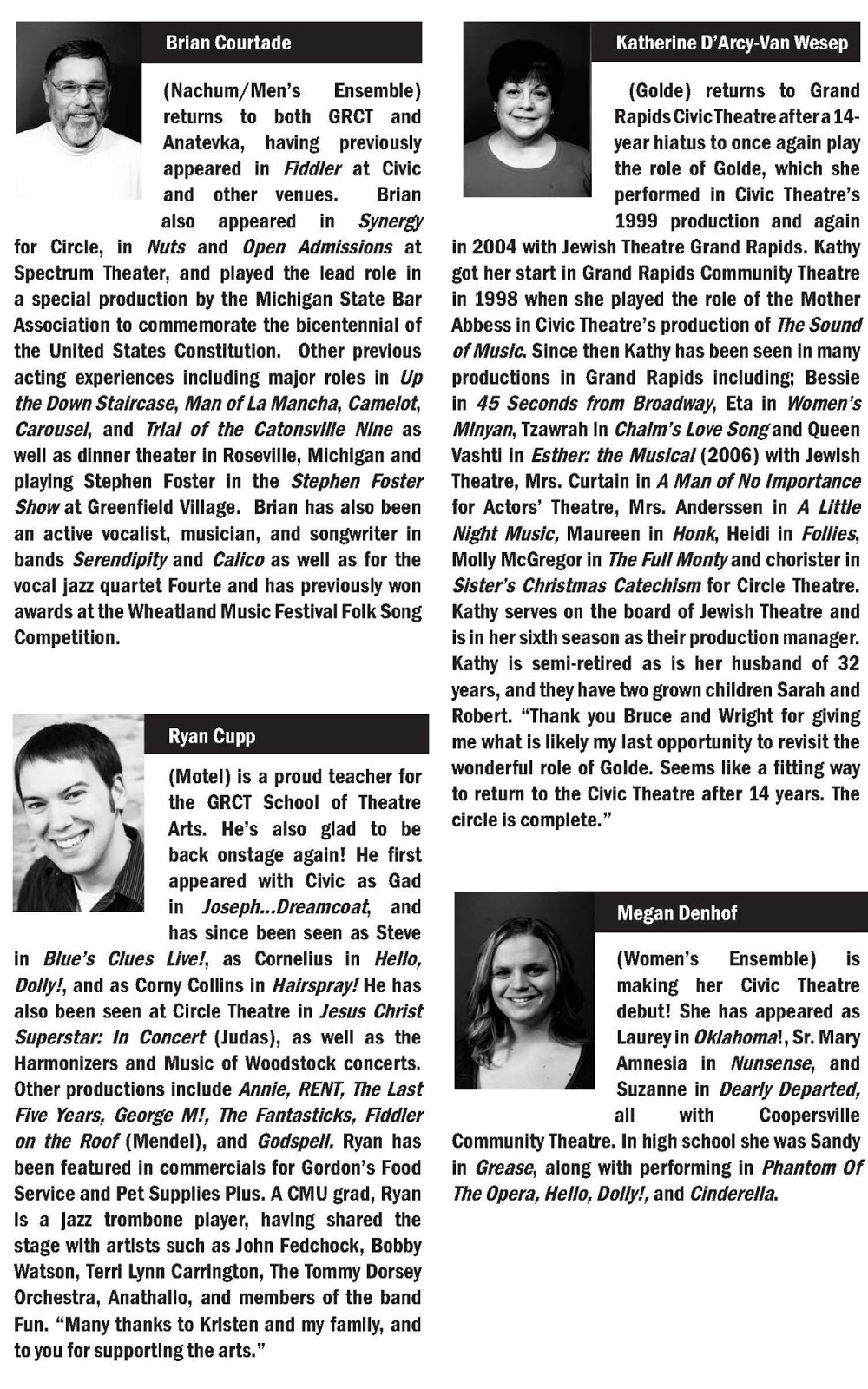 Fiddler On The Roof Cast Bios