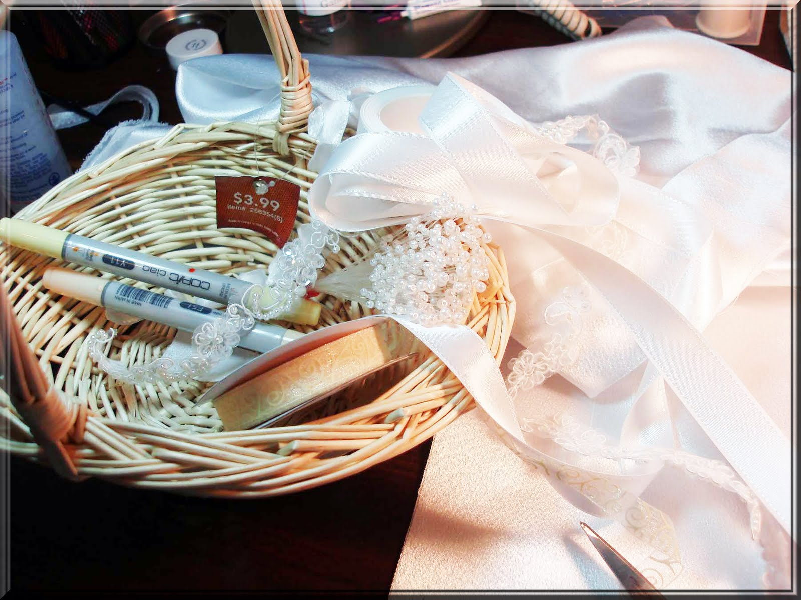 Expensive Flower Girl Baskets : Really reasonable ribbon decorate your wedding with