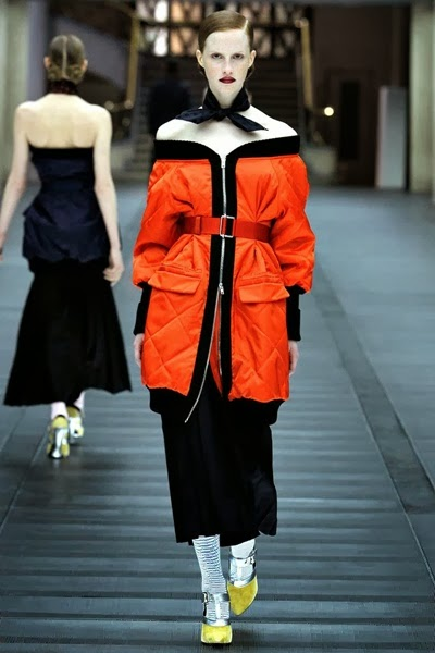 Miu Miu Fall 2013 RTW Orange Coat
