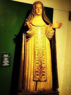 Santa Rosa de Lima no Museu Diocesano de San Ignacio Guazu, no Paraguai.