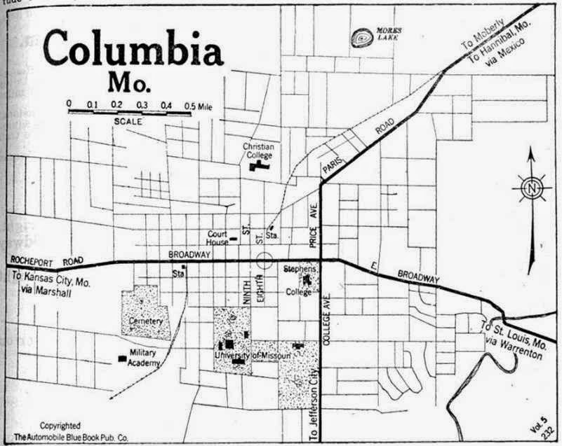 City of Columbia Missouri map overview
