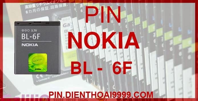 Pin Nokia BL 6F - Pin bl 6f chính hãng giá 150.000 - Pin bl 6f dung lượng cao 1500mAh giá 130.000 - Bảo hành: 6 tháng  - Pin tương thích với điện thoại Nokia  6788/ 6788i/ N78/ N79/ N95 8G  Thông số kĩ thuật: - Pin Nokia bl 6f được thiết kế kiểu dáng và kích thước y như pin nguyên bản theo máy, Pin tiêu chuẩn, chất lượng như pin theo máy. - Kích thước: 45.5 x 40 x 7mm - Dung lượng: 1500 mah - Điện thế: 3.7V - Công nghệ: Pin Li-ion Battery  Mô tả sản phẩm: - Pin Galilio nhờ nghiên cứu và phát triển công nghệ lithium nên đã đạt được pin dung lượng cao nhất cho phép (từ 1,5- 2 lần) nhưng vẫn đảm bảo được chất lượng cao, đã vượt qua nhiều tiêu chuẩn chất lượng như ISO 9001, ISO 1400I, CERTIFICATED, hãng cũng ứng dụng Công Nghệ an toàn mà những hãng pin khác không có được: Controller IC, Control swithches, Temperature Fuse.. - Thiết kế kiểu dáng và kích thước y như pin nguyên bản theo máy, thuận tiện và dễ dàng thao tác, pin dung lượng cao cung cấp đủ nguồn điện cho máy sử dụng được trong thời gian dài, có thể mang đi bất cứ đâu để phòng khi pin của máy bạn hết mà không có điều kiện để sạc. - Cho phép bạn giữ các cuộc nói chuyện và bảo đảm cho bạn không bỏ lỡ các cuộc gọi điện thoại quan trọng - Pin sạc bằng cách gắn vào điện thoại và sạc như pin gốc - Sản phẩm đạt tiêu chuẩn tuyệt đối về an toàn cháy nổ - Bảo hành đổi pin mới trong 6 tháng.  GIAO HÀNG VÀ BẢO HÀNH TẬN NHÀ  Quý khách có nhu cầu mua pin,  hãy liên hệ với chúng tôi:  0904.691.851 - 0976.997.907  Website: http://pin.dienthoai9999.com Mua số lượng lớn: 0942299241  - Hướng dẫn sử dụng, bảo quản pin: http://pin.dienthoai9999.com/p/huong-dan-su-dung-pin - Quy định bảo hành: http://pin.dienthoai9999.com/p/quy-dinh-bao-hanh-pin - Khách hàng góp ý: http://pin.dienthoai9999.com/p/khach-hang-gop-y