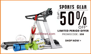 Sports & Fitness Extra 50% Cashback on Rs. 699