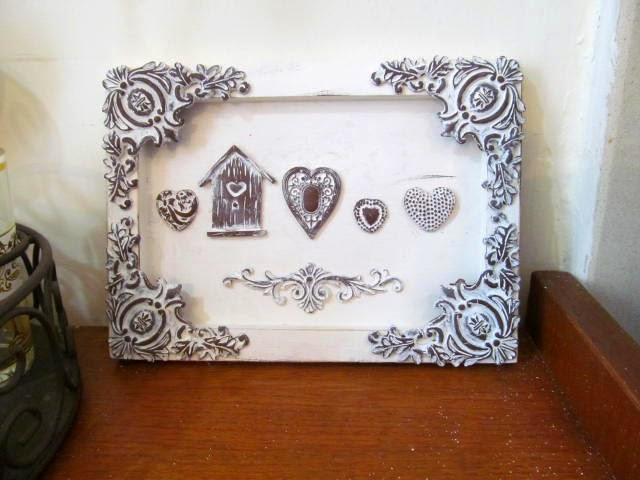 hillovely,hilla bushari,fimo,polymer clay, shabby chic frame , free fimo turorial,