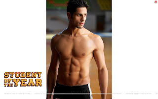 Sidharth Malhotra shirtless muscular wallpaper Student Of The Year