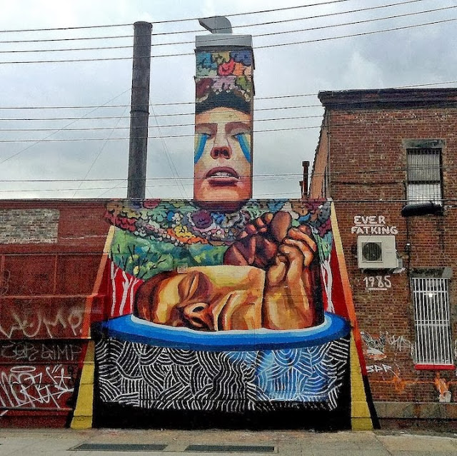 """Plastic exercise to describe the alteration of reality II"" New Street Art By Ever In Bushwick, New York City. 1"