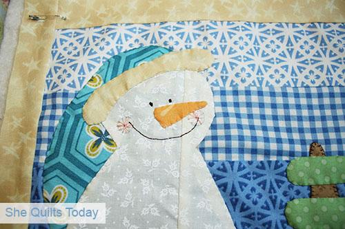 Snowman Mini Quilt Tutorial