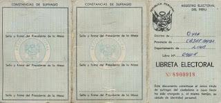 En 1963 se crea la Libreta Electoral