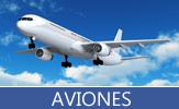 Aviones privados, aviones comerciales y aviones de guerra
