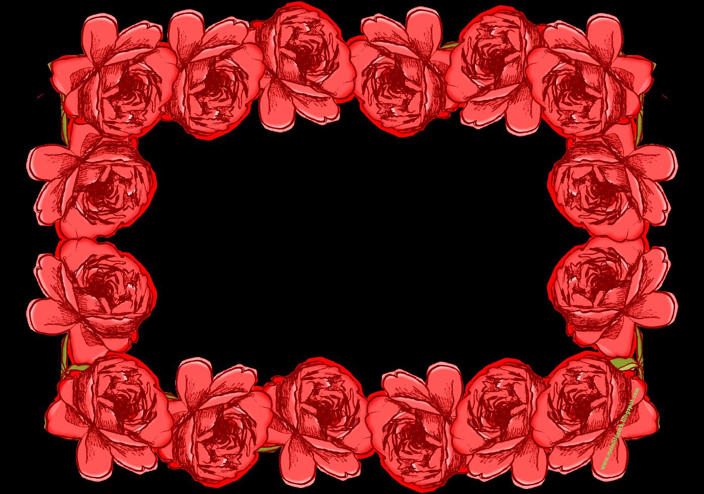 free red faux vintage rose frame – Rosenrahmen – freebie ...