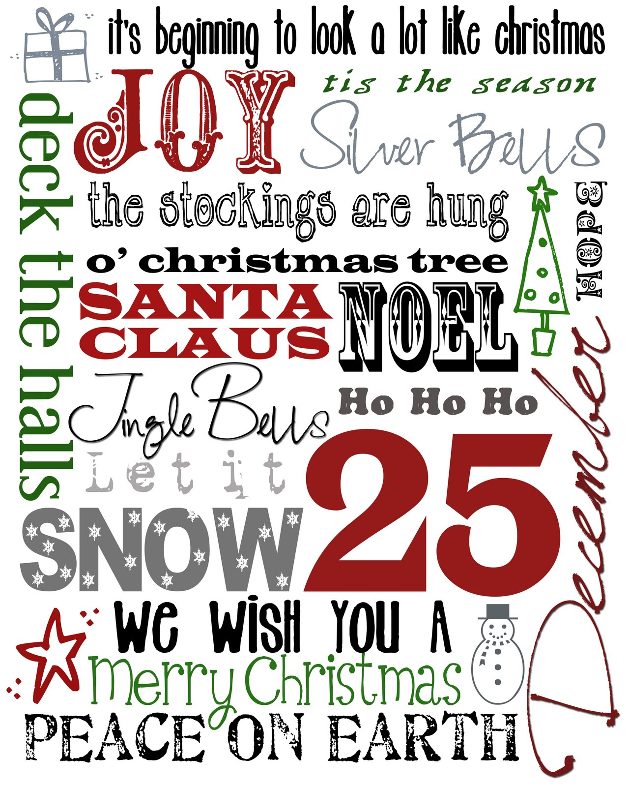 It's just a graphic of Wild Merry Christmas Printable