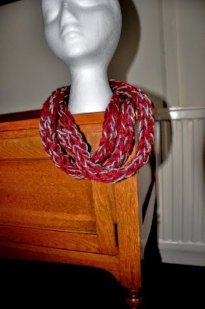 draped infinity scarf