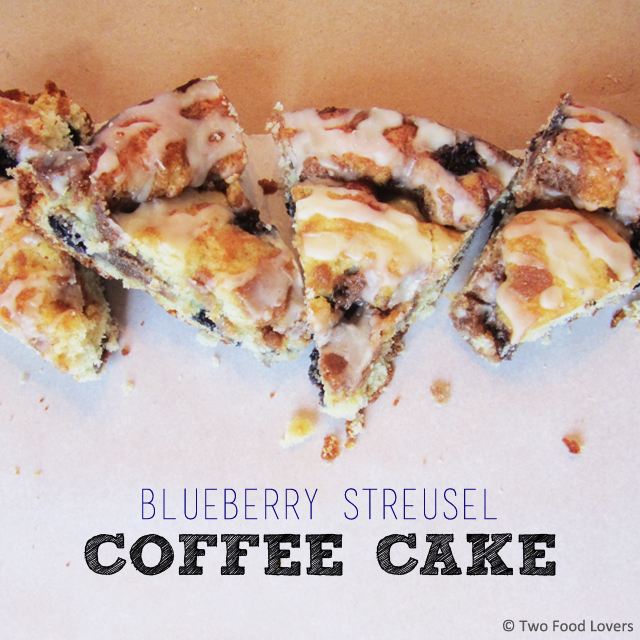 Buttery, moist, crumbly, Blueberry Streusel Coffee Cake by Two Food Lovers