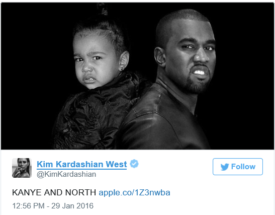 kanye and child