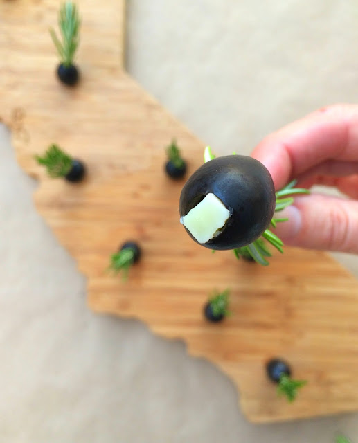 Festive and Easy Holiday Appetizers - Cheese Stuffed Olives www.jacolynmurphy.com