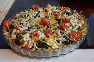 Zdrowa tarta z warzywami