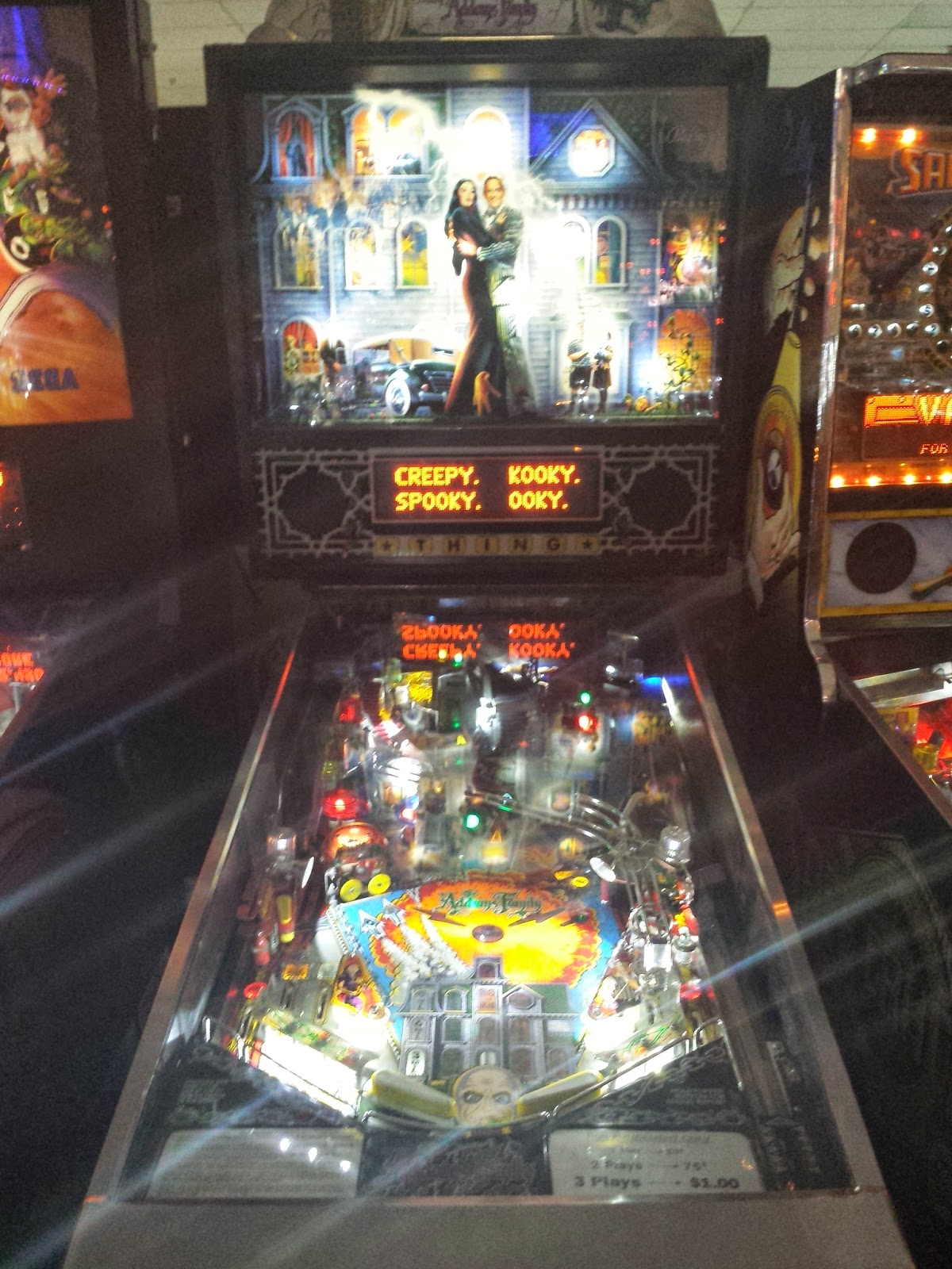 One of the best pinball machines, The Addams Family