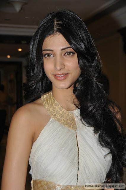 Shruti Hassan Hot Pics in White short dress