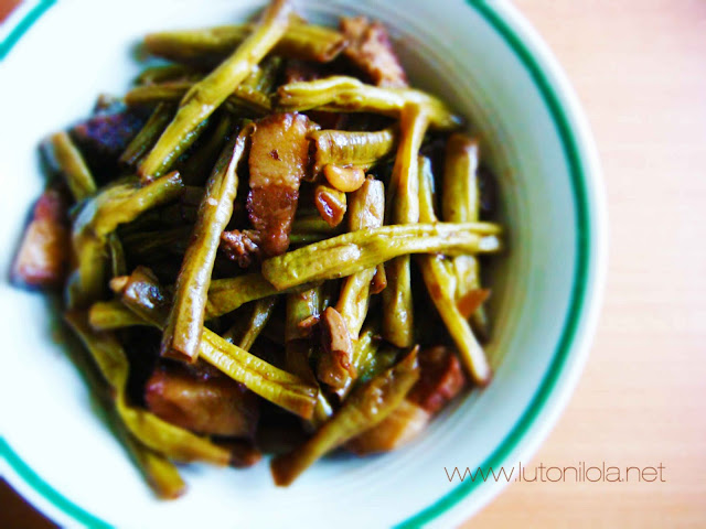 Adobong Sitaw - Yardlong Beans Adobo