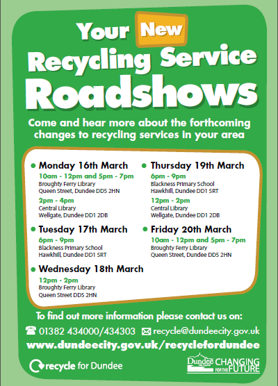 Recycling and Waste Collection Roadshow Posters March 2015