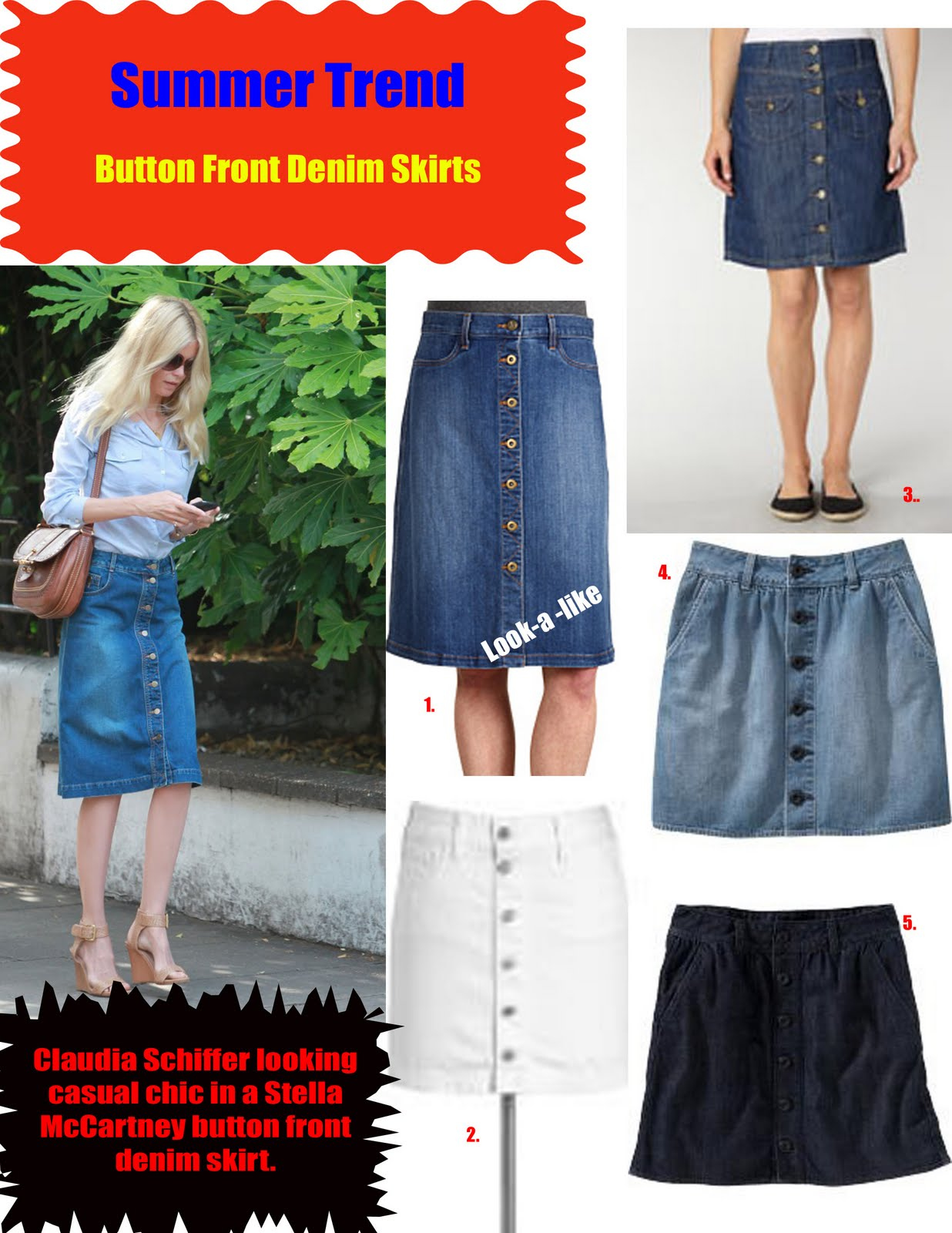 SUMMER TREND: BUTTON FRONT DENIM SKIRTS | Stylish Curves