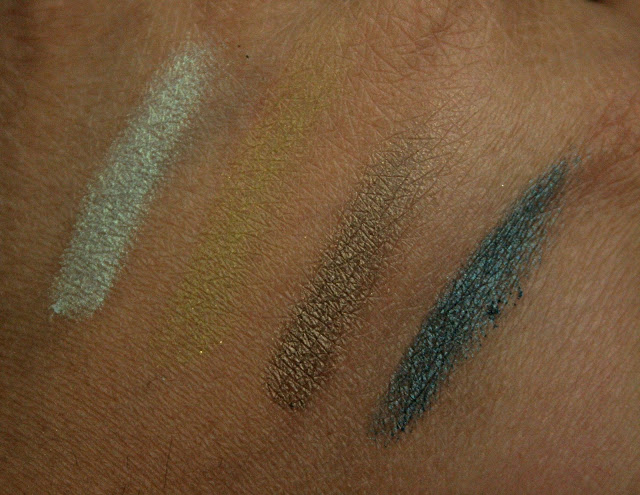 bareMinerals eady 4.0 Eye Shadow Quads in The Wild Thing Swatches