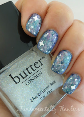 Galaxy nails tutorial with Butter London Frilly Knickers