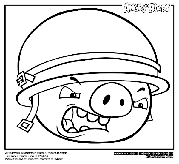 Angry Birds King Pig Coloring Page