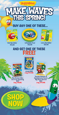 Free VeggieTales DVD With Water Toy Purchase ($14.99 Value)