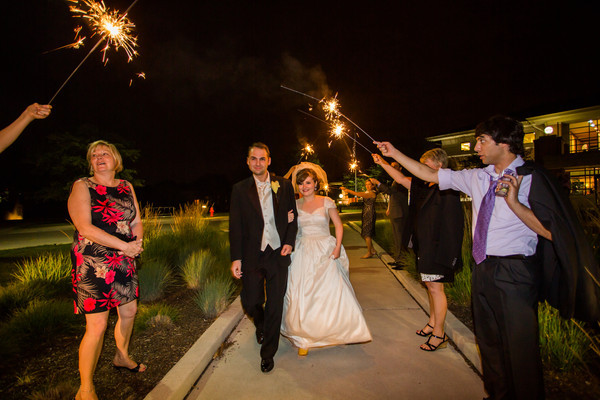 You Can Lead a Horse to Water...  :  wedding chicago recap Sparkler