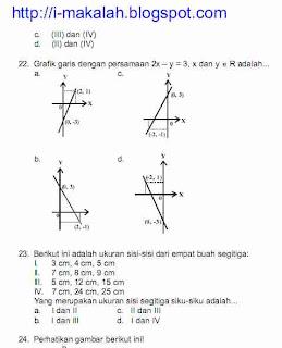 Download Soal UN Matematika SMP