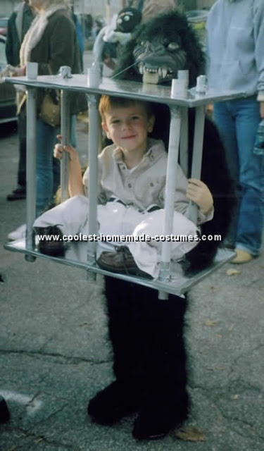 Captive Kid and Gorilla Costume