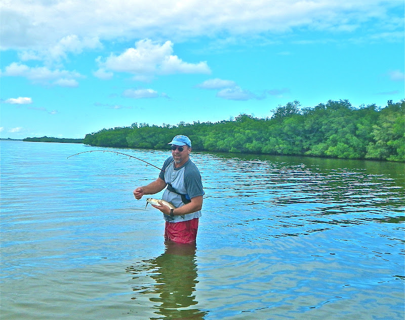 On foot angler from native tackle sebastian for Snook nook fishing report
