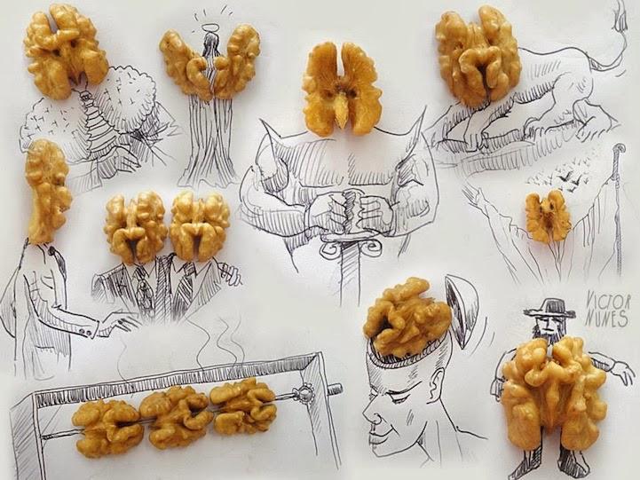 الابداع بلا حدود-لوحات فنية نصها مرسوم ونصها حقيقي Design-fetish-Victor-Nunes-objects-illustrations-into-faces-12