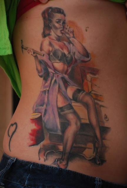 tatuaje mujer carpintera
