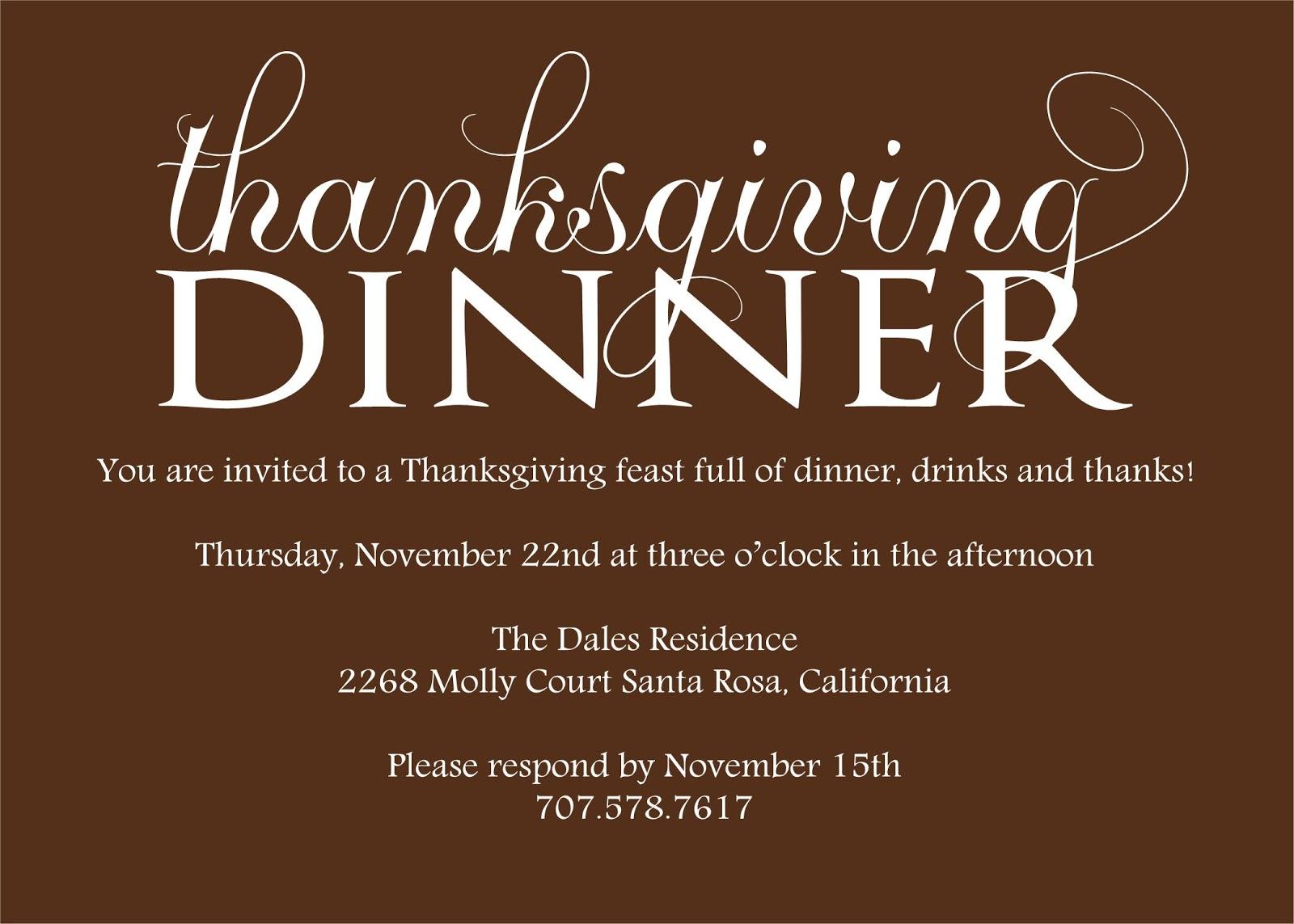 Alisa Marie Designs: Thanksgiving Invitations