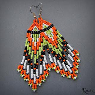 купить украшения ручной работы от анабель серьги из бисера