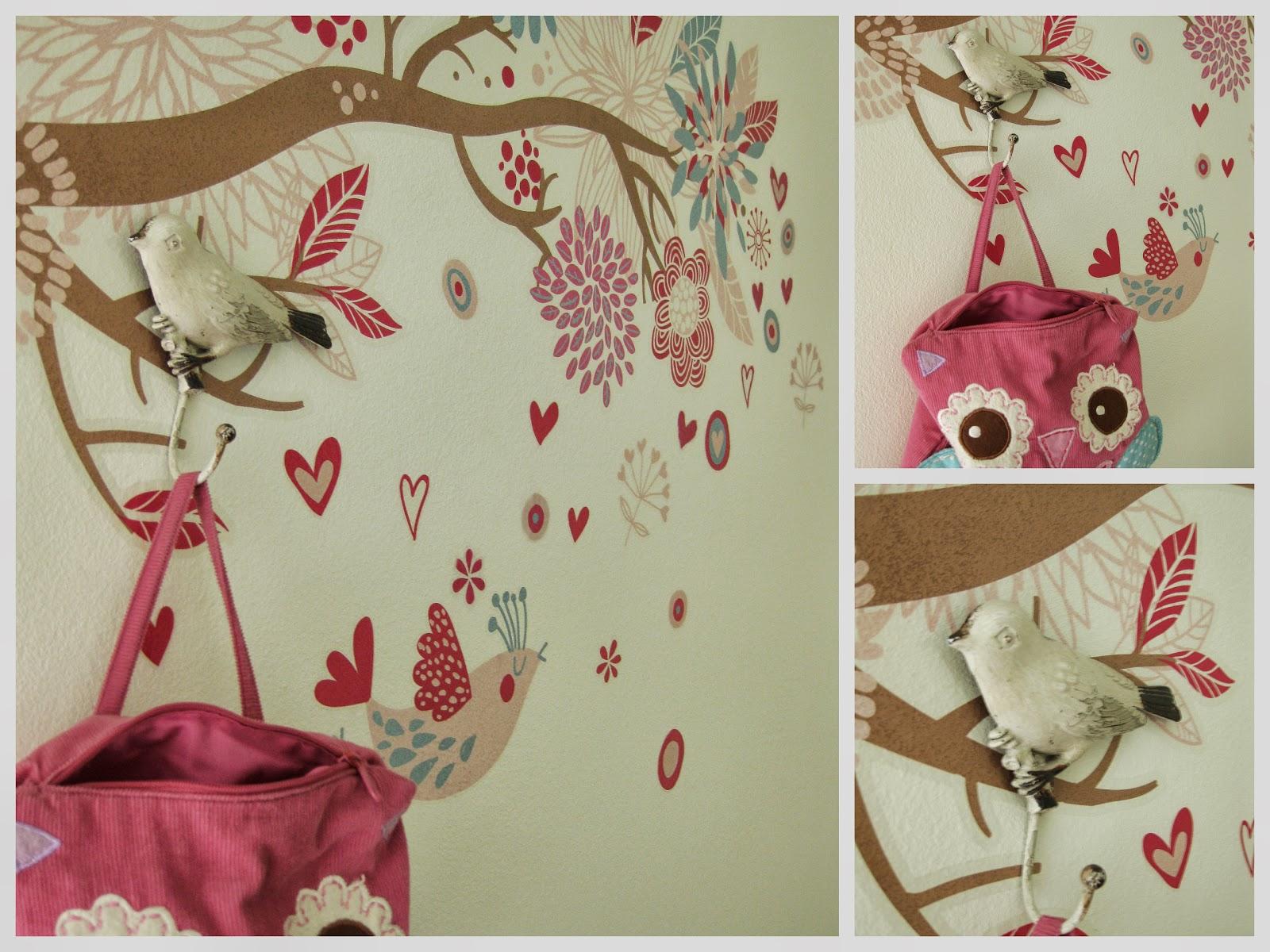 seinätarra puun oksa, linnut, rakkaus, lintu seinäkoukku lintunaulakko