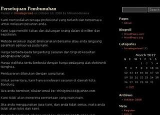 PEMBUNUH BAYARAN ONLINE