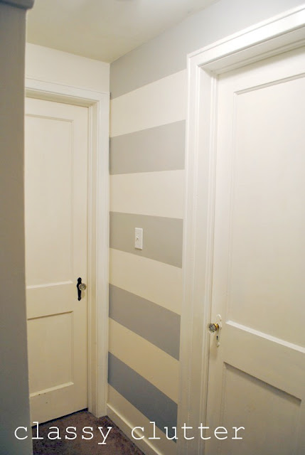 How to paint stripes on your wall for Painting stripes on walls