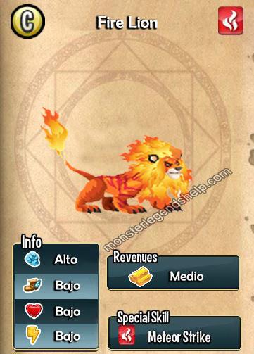 imagen del fire lion y sus caracteristicas