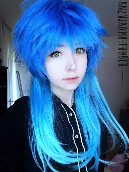 Wonders of Ash Green and Blue Pixie Wig