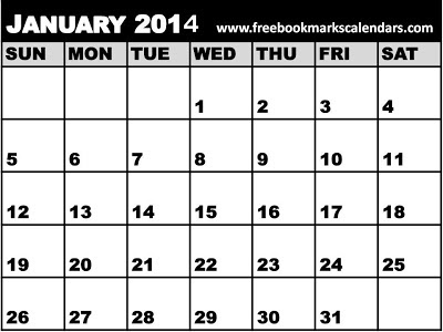 February 2014 Calendar Printable PDF