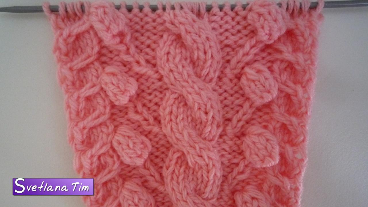 схема вязания косы косичка спицами