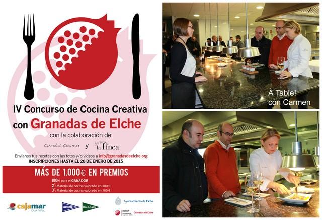 Iv concurso de cocina creativa con granadas de elche - Cocina con carmen ...