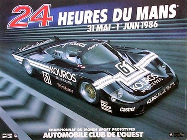 Affiche officielle des 24 Heures du Mans 1986