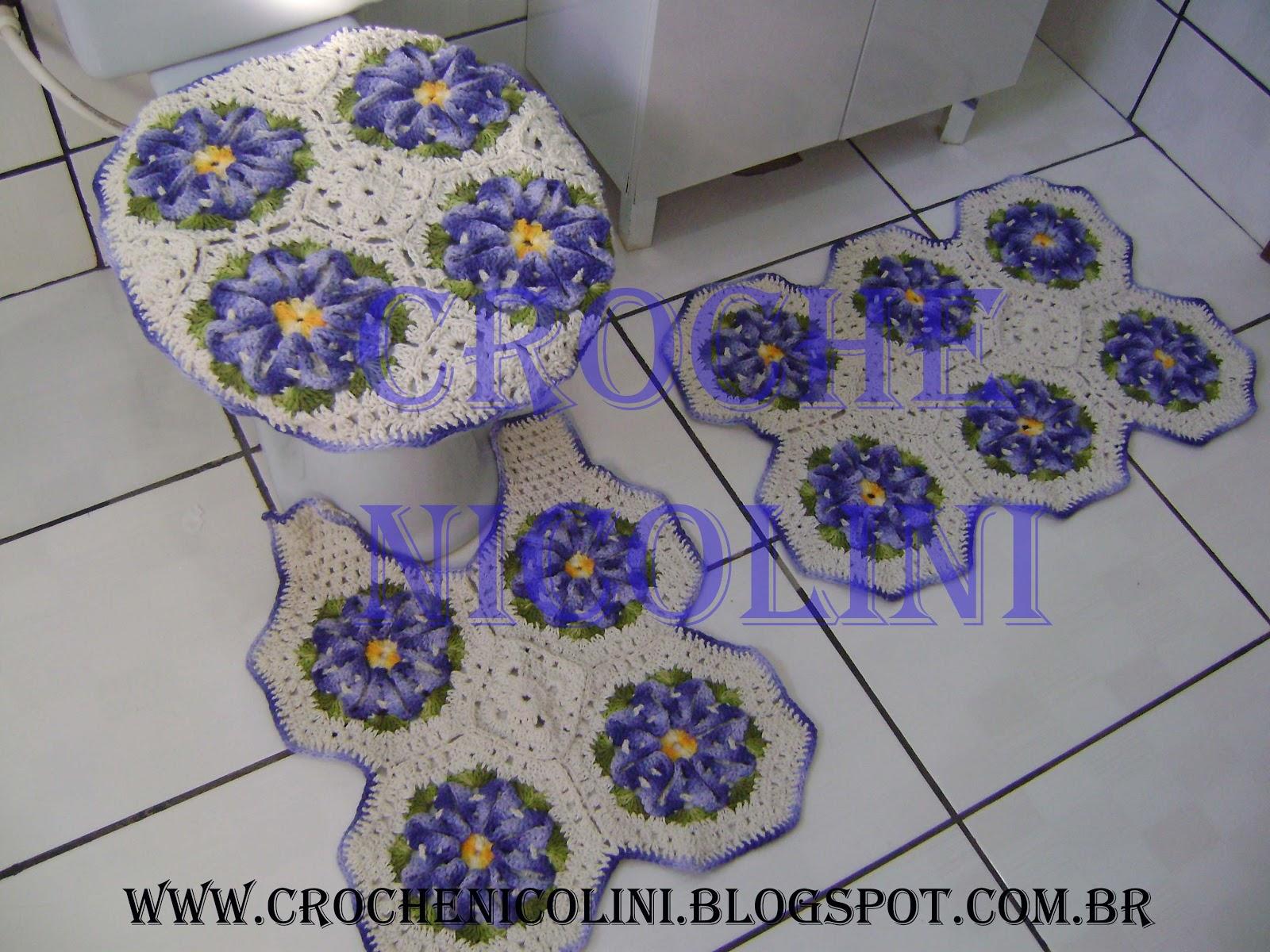 Croche Nicolini: JOGO DE BANHEIRO #3E3973 1600 1200